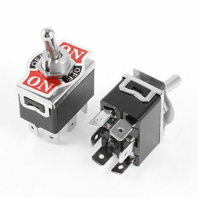 2Pcs DPDT 3 Position (ON)-OFF-(ON) Momentary 6 Terminals Toggle Switch • 6.50$