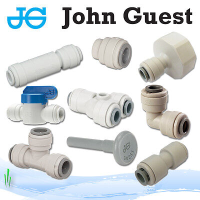 John Guest 1/4  Push Fit Fittings Drinks, Dispense, Ro Units, Brewery • 4.89£