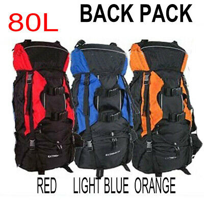 AU45.99 • Buy 80L Extra Load Outdoor Super Large Backpack Rucksack Bag 4 Camping Hiking Travel