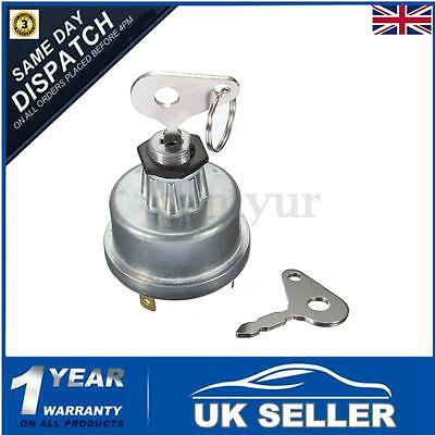 Universal Digger Plant Tractor Ignition Switch & 2 Key For Lucas Massey Ferguson • 8.49£