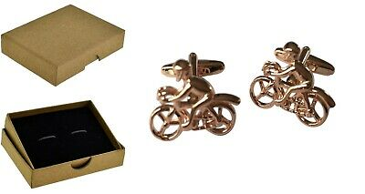 £7.75 • Buy Cycle Cycling Cufflinks Racing Bike Bicycle Rose Gold Plated  BE010