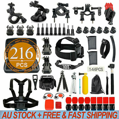 AU33.98 • Buy 216pcs Accessories Pack Case Chest Head Floating Monopod GoPro Hero 8 7 6 5 4 3+