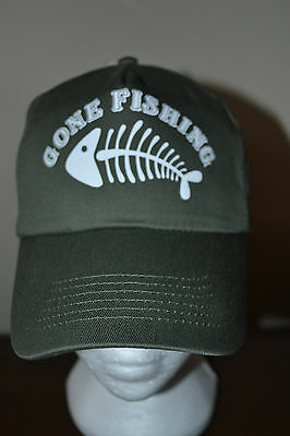 £12.99 • Buy Personalised Funny Gone Fishing Course Carp Fly Rod Net  Cap Hat