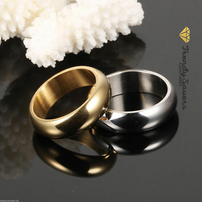 £2.99 • Buy Quality 18K Gold Plated Stainless Steel Wedding/Engagement Rings  Sizes 5-13