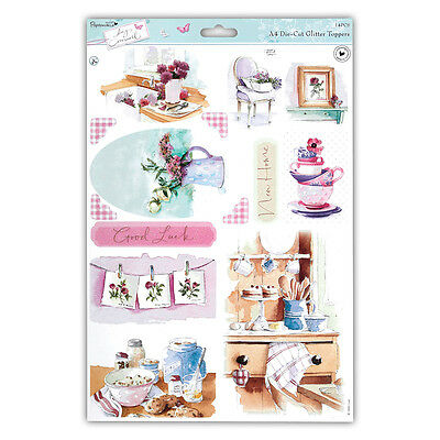 Papermania Lucy Cromwell Glitter Toppers  Home  Great For Cards & Crafts • 1.25£