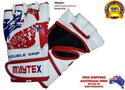 AU17.99 • Buy  MMA PRO UFC Grappling Boxing Gloves Fitness Double Grip Leather