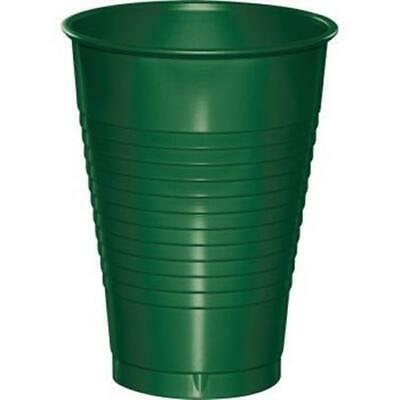 Hunter Green 12oz Plastic Cups 20 Per Pack Green Decorations & Party Supplies • 2.78£