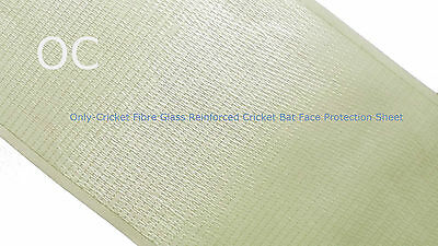 Only Cricket Anti Scuff Fibre Glass Reinforced Cricket Bat Face Protection Sheet • 4.99£