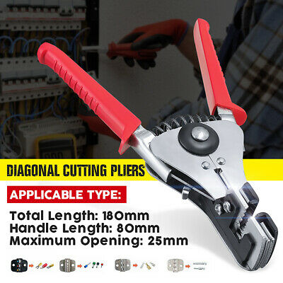 Steel Automatic Cable Wire Stripper Stripping Crimper Crimping Plier Cutter Tool • 7.57£