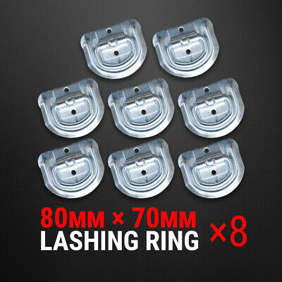 AU20.57 • Buy 8 Pcs Lashing D Ring Zinc Plated Rope Ring Tie Down Anchor Trailer UTE