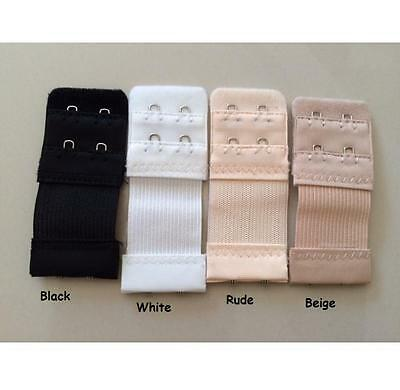 AU2.50 • Buy BRA Extender Elastic 2/3/4 Hooks Extension Strap Clip Ons Maternity SAVE A BRA