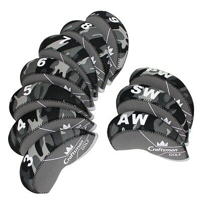 AU28.32 • Buy Grey Set Of 10PCS Golf Iron Club Covers Headcovers For Callaway Taylormade