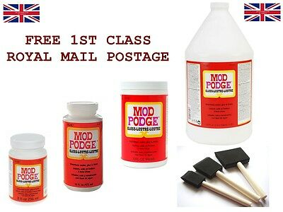 MOD PODGE GLOSS Waterbase Sealer Glue & Finish All Sizes - Special Offer • 1£