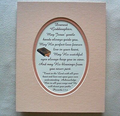 GODDAUGHTER BAPTISM Love JESUS HANDS Guide TRUST LORD HEART Poems Verses Plaques • 10.50£