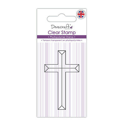 £0.99 • Buy Dovecraft Photopolymer Clear Cross Stamp For Cards And Crafts