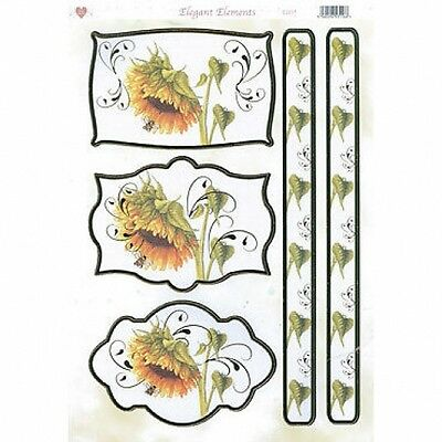 £0.99 • Buy Beautiful Yellow Sunflowers Embellishment Toppers  For Cards/crafts