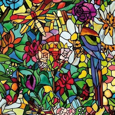 £5.75 • Buy Frosted Flower Stained Glass Window Sticky Back Plastic Self Adhesive Vinyl Film