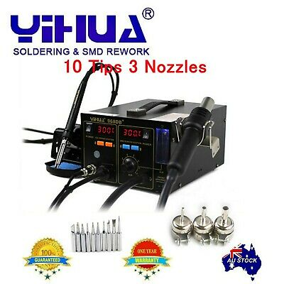 AU128.89 • Buy YH968DB+ 2 In1 SMD Rework Soldering Station Hot Air Gun Fume Extractor AU