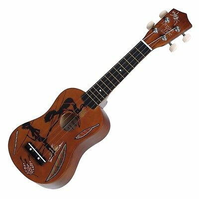 AU39.95 • Buy NEW Sanchez Soprano Dreamtime Aboriginal Ukulele 4 String Beginner Kids (Hunter)