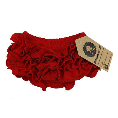 Metallimonsters Plain Red Ruffle Baby Bloomers Alternative Rock Metal Goth  • 9.99£