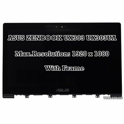 AU175.62 • Buy 13.3'' Asus Zenbook UX303 UX303LA UX303LN FHD LCD Display Touch Screen Assembly
