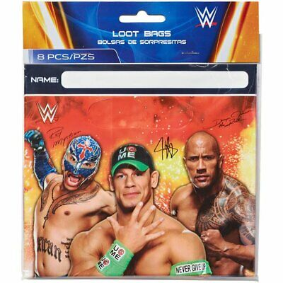 WWE Wrestling Championship Loot Bags (8ct) Boy Birthday Party Favors Treat Gift • 4.97£