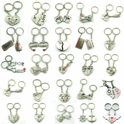 £1.90 • Buy I Love You Cupid Heart Couples Keyrings Puzzle Keychain Lovers Gift Silver Metal