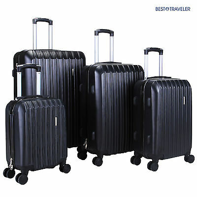 View Details 4Pcs ABS Luggage Trolley Carry On Travel Case Bag Spinner Hardshell Suitcase • 98.90$