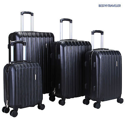 View Details 4Pcs ABS Trolley Carry On Travel  Luggage Set Bag Spinner  Suitcase W/Lock Black • 98.90$