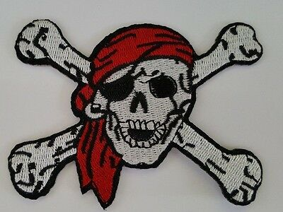 £2.59 • Buy Pirate Skull And Crossbones Iron On Sew On Patch Transfer Fancy Dress