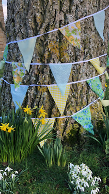 Clearance Handmade Fabric Bunting.shabby Weddings,chic,vintage Florals.from £3. • 9.99£