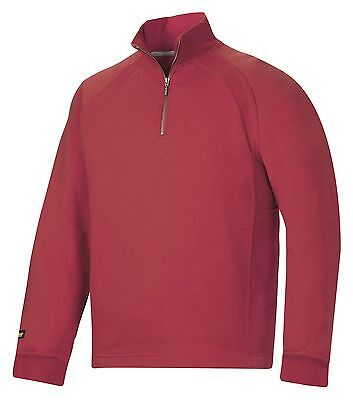 AU87.40 • Buy Snickers 2813 Heavy Zipped Sweatshirt Mens SnickersDirect Red
