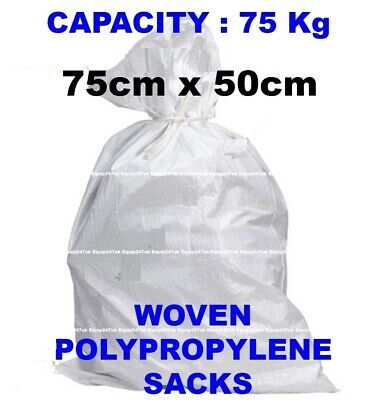 £9.90 • Buy White Woven Heavy Duty Rubble Sacks/bags Builders Bags Postal Superior Quality