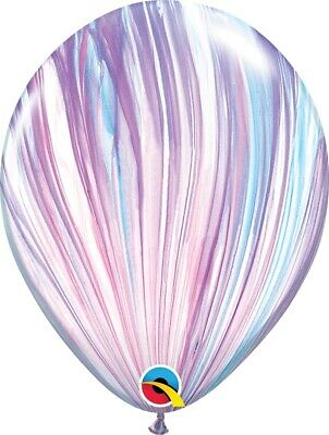 AU7.95 • Buy Party Supplies Birthday Marble Unicorn Pastel Agate Fashion 28 Cm Balloons Pk 10