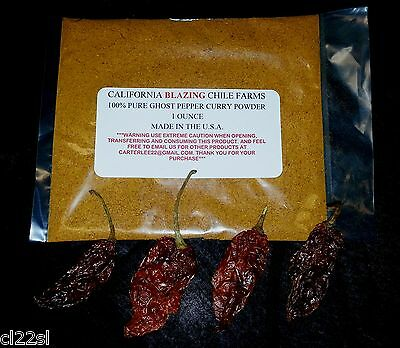 $5.75 • Buy 1 Oz. 100% Pure Ghost Pepper Curry Powder Mix-Smokey And Flavorful Powder!