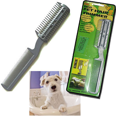 £2.99 • Buy Cat Dog Pet Puppy Long Hair Grooming Comb Brush Trimmer Razor Cutter Blades Cut