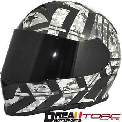 $99.99 • Buy Torc T14 Force Matte Flat Black Army Military Full Face Motorcycle Helmet Dot