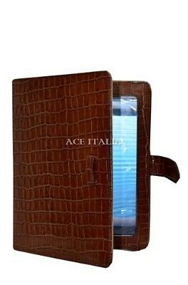 $35.41 • Buy IPAD 2 3 & 4 Tan Croc Print Luxury Real Genuine Leather Cover Case Stand
