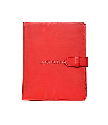 $35.41 • Buy IPAD 2 3 & 4 Red Soft Lambskin Luxury Real Genuine Leather Cover Case Stand