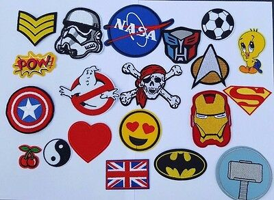 £2.59 • Buy Embroidered Iron On Sew On Patches Badges Transfers - Fancy Dress Brand New