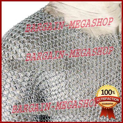 £50.99 • Buy Medieval Aluminium Chainmail Shirt Butted Chain Mail Armour Role Play Costumes