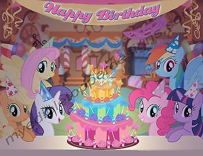 My Little Pony Personalized Edible Print Cake Topper Frosting Sheets 5 Sizes O 1399
