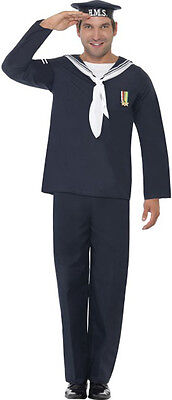 Naval Seaman Costume 1940's Wartime Men Fancy Party Dress Complete Outfit • 20.99£