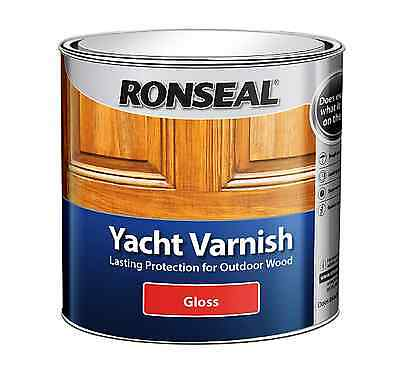 Ronseal Yacht Varnish Gloss Satin 250ml 500ml  1l  2.5l  • 10.95£