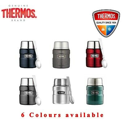 AU31.99 • Buy Thermos VACUUM Insulated Food Jar Thermo Flask Container 470ml With Spoon
