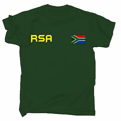 South Africa Flag T-SHIRT African Sport Cricket Soccer Rugby Birthday Gift • 9.95£