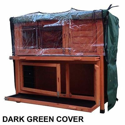 RHL Double Tier Rain Cover For Rabbit Hutch Run Covers Pet Hutches Ferret Cages • 32.99£