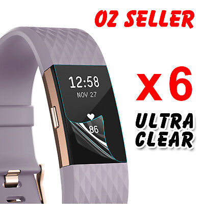 AU5.45 • Buy 6x Ultra Clear Front Screen Protector Films Guard Cover For Fitbit Charge 2 NSW