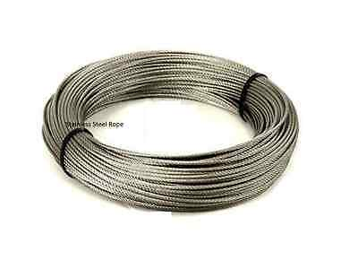 £3.59 • Buy New Stainless Steel Wire Rope Cable, (Plastic Coated ,10M)