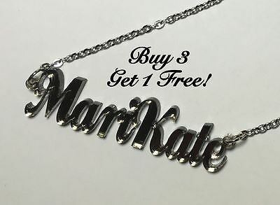 £8.55 • Buy Name Necklace Acrylic Personalized - Buy 3 Get 1 FREE - FREE Shipping  22 Colors